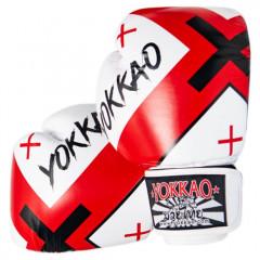 Боксёрские перчатки YOKKAO Vertigo X Muay Thai white