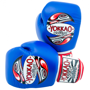 Перчатки YOKKAO BLUE HAIDA TATTOO