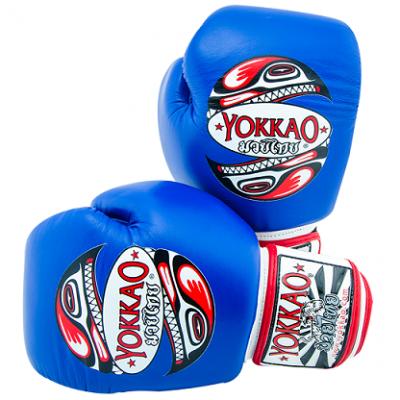 Перчатки YOKKAO BLUE HAIDA TATTOO (01468)