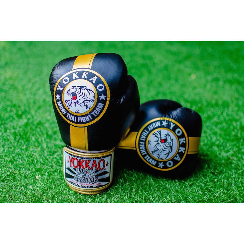 Перчатки YOKKAO FIGHT TEAM Boxing Black gold (01199) фото 2