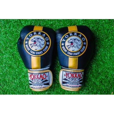 Перчатки YOKKAO FIGHT TEAM Boxing Black gold (01199) фото 3