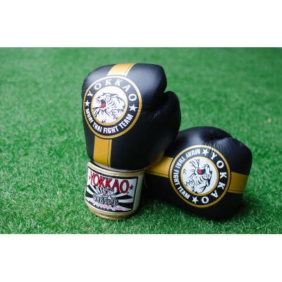 Перчатки YOKKAO FIGHT TEAM Boxing Black gold (01199) фото 4