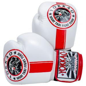 Перчатки YOKKAO FIGHT TEAM WHITE Боксерські рукавиці