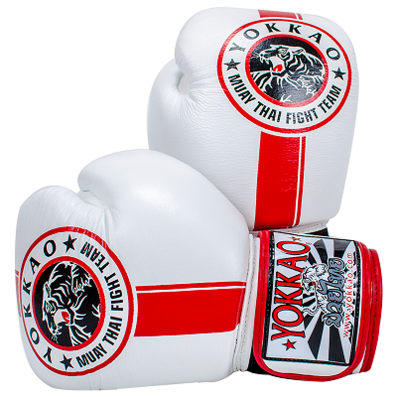 Перчатки YOKKAO FIGHT TEAM WHITE Boxing Gloves (01467) фото 1