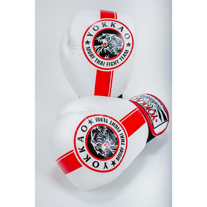 Перчатки YOKKAO FIGHT TEAM WHITE Boxing Gloves (01467) фото 2