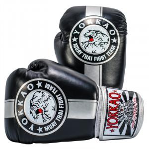 Перчатки YOKKAO FIGHT TEAM SILVER Boxing Gloves