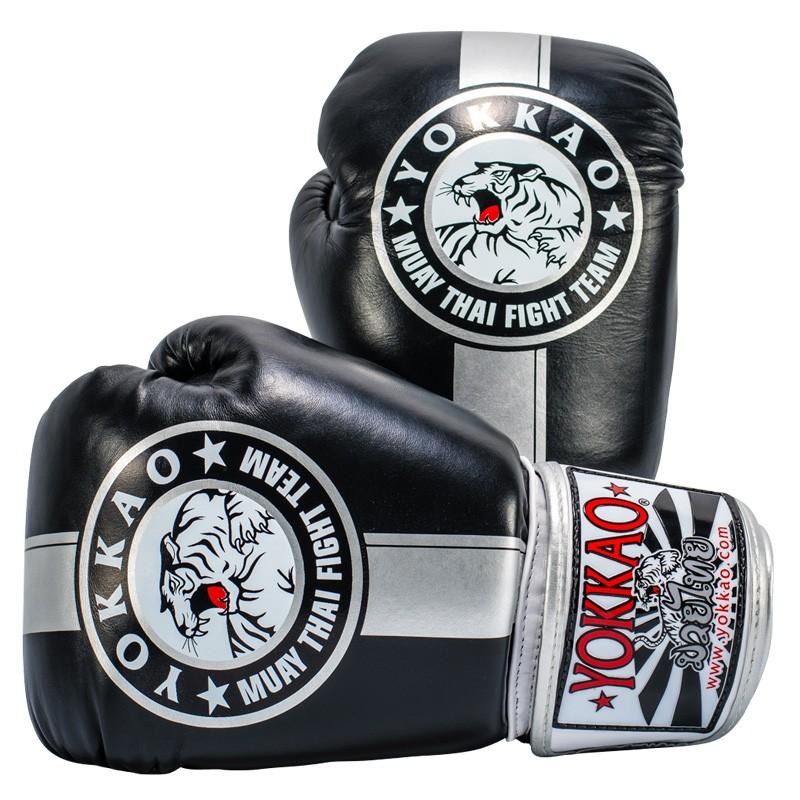 Перчатки YOKKAO FIGHT TEAM SILVER Boxing Gloves (01466) фото 1