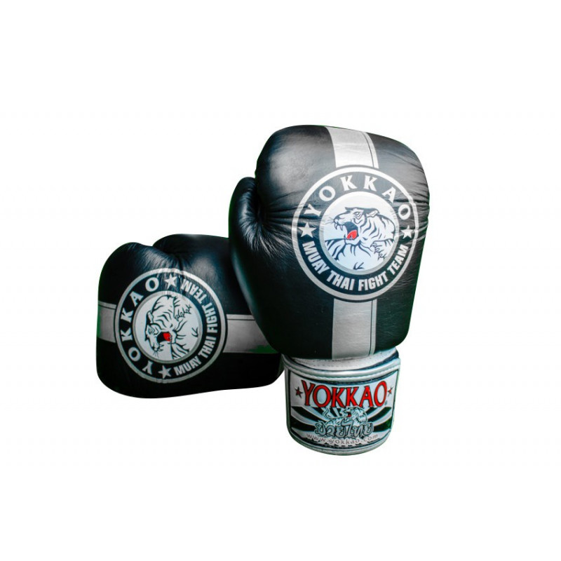 Перчатки YOKKAO FIGHT TEAM SILVER Boxing Gloves (01466) фото 4