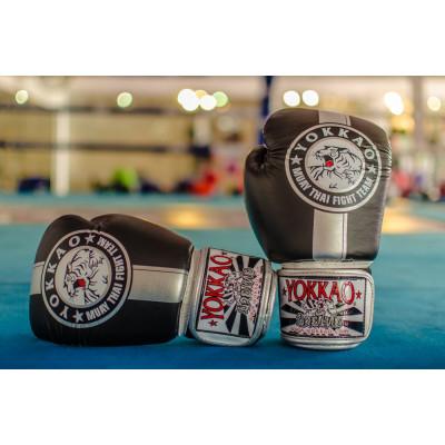 Перчатки YOKKAO FIGHT TEAM SILVER Boxing Gloves (01466) фото 3