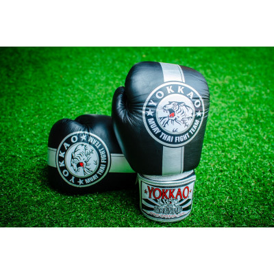 Перчатки YOKKAO FIGHT TEAM SILVER Boxing Gloves (01466) фото 2