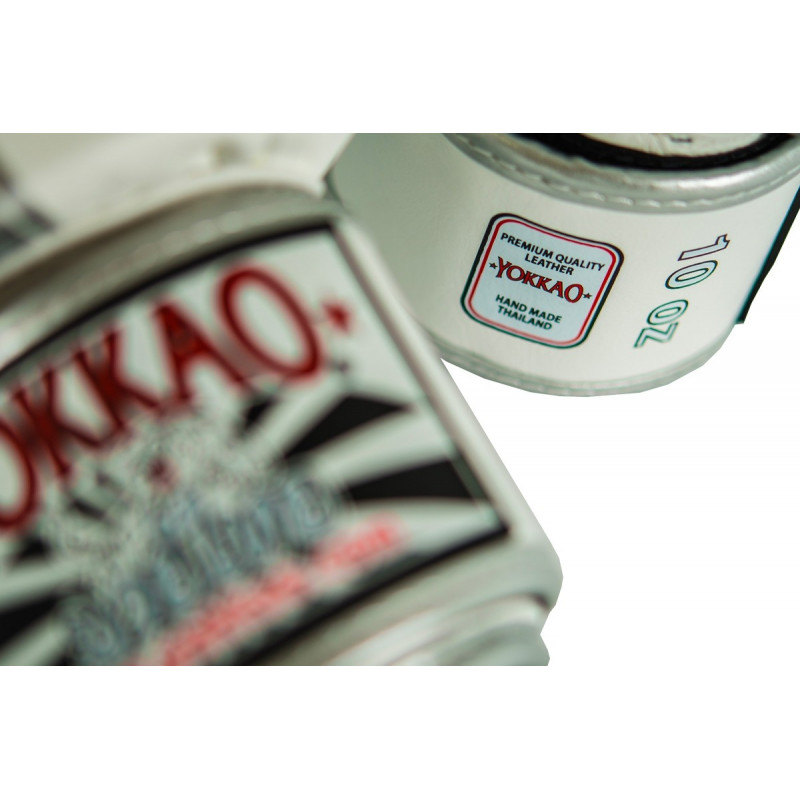 Перчатки YOKKAO FIGHT TEAM WHITE/SILVER Boxing Gloves (01518) фото 5