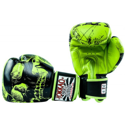 Боксёрские перчатки YOKKAO Skullz lime punch (01654) фото 4