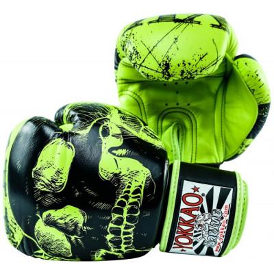 Боксёрские перчатки YOKKAO Skullz lime punch (01654) фото 5