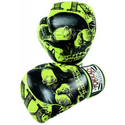 Боксёрские перчатки YOKKAO Skullz lime punch (01654) фото 6