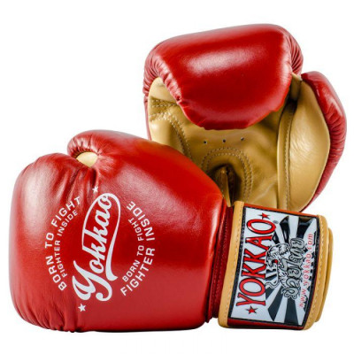 Боксёрские перчатки YOKKAO Vintage gloves red (01763) фото 2
