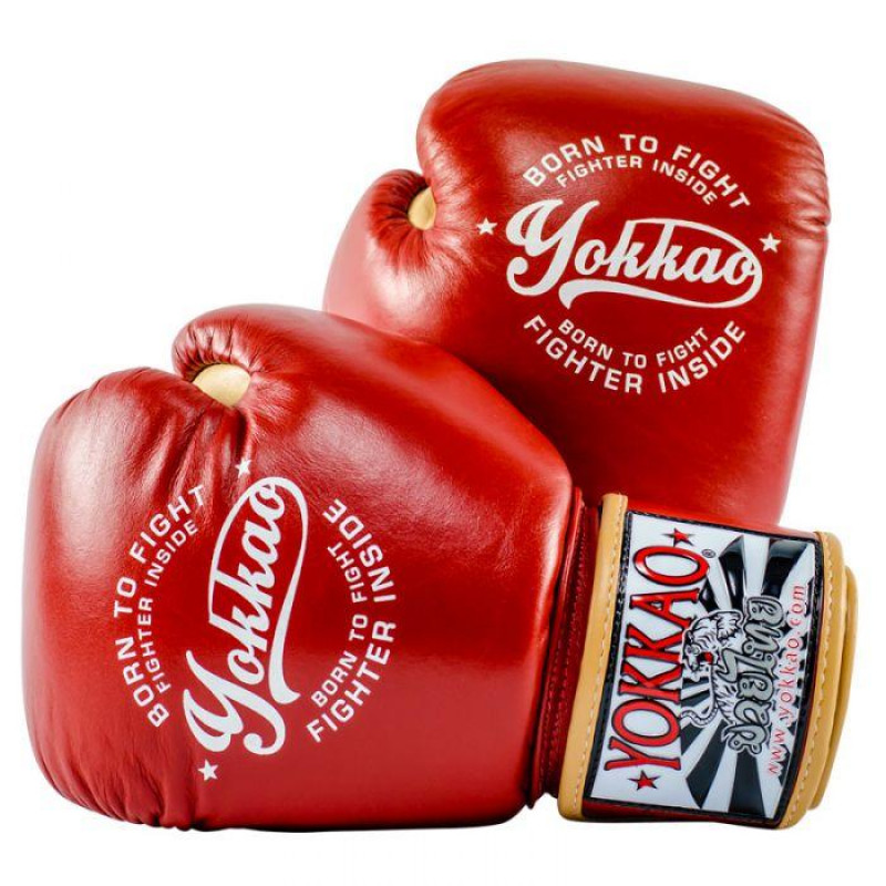 Боксёрские перчатки YOKKAO Vintage gloves red (01763) фото 1