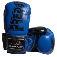 Боксёрсские перчатки PowerPlay Blue 3017 синие