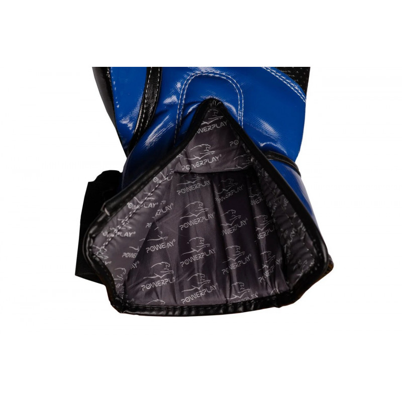 Боксёрсские перчатки PowerPlay Blue 3017 синие (01798) фото 5