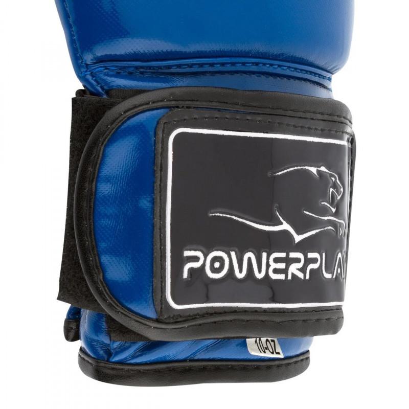 Боксёрсские перчатки PowerPlay Blue 3017 синие (01798) фото 6