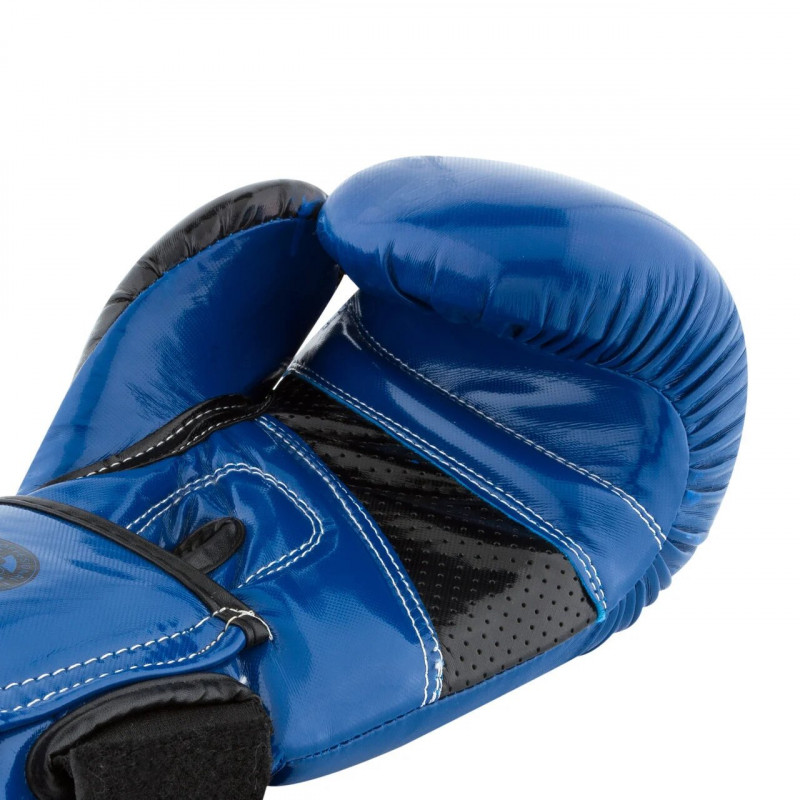 Боксёрсские перчатки PowerPlay Blue 3017 синие (01798) фото 2