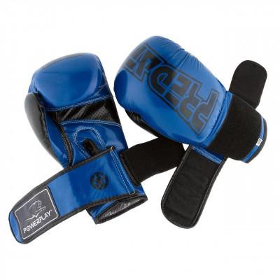 Боксёрсские перчатки PowerPlay Blue 3017 синие (01798) фото 7