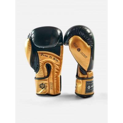 Боксерські рукавички Peresvit Core Boxing B/Gold (02126) фото 1