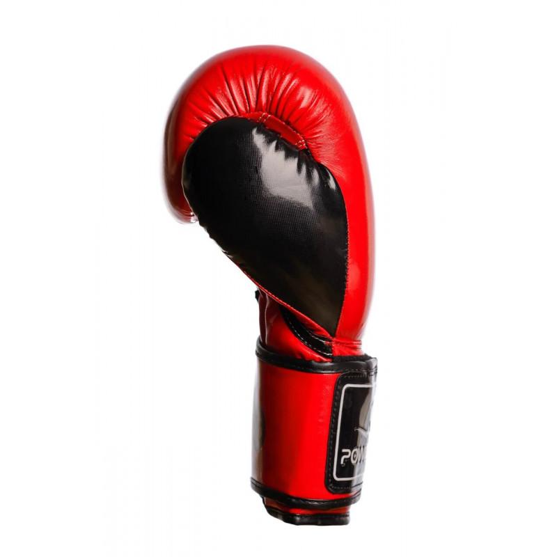 Боксёрсские перчатки PowerPlay Red 3017 красные (01796) фото 9