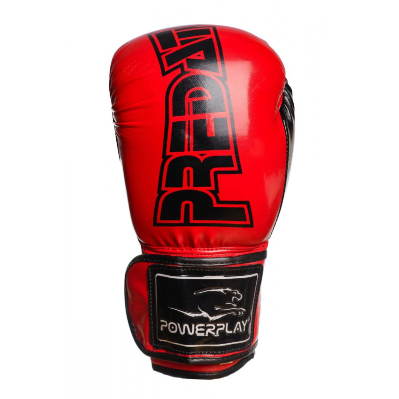 Боксёрсские перчатки PowerPlay Red 3017 красные (01796) фото 8