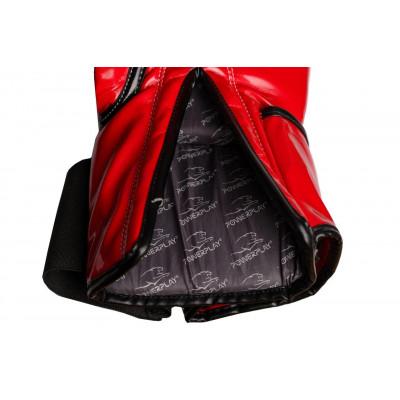 Боксёрсские перчатки PowerPlay Red 3017 красные (01796) фото 7