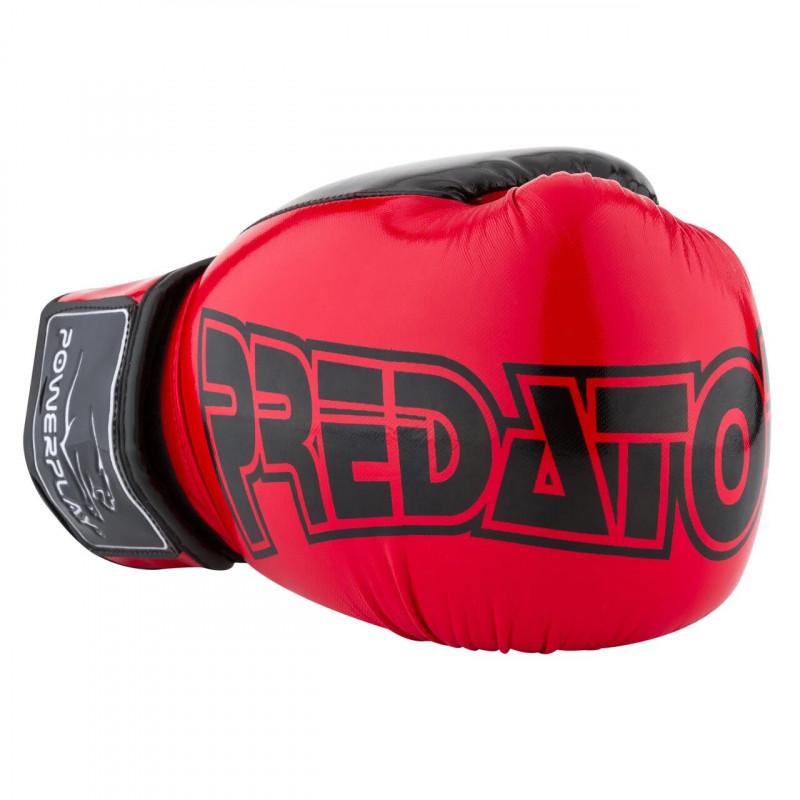 Боксёрсские перчатки PowerPlay Red 3017 красные (01796) фото 6