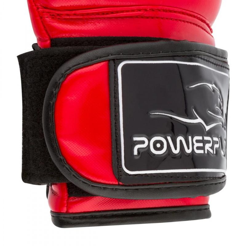 Боксёрсские перчатки PowerPlay Red 3017 красные (01796) фото 5