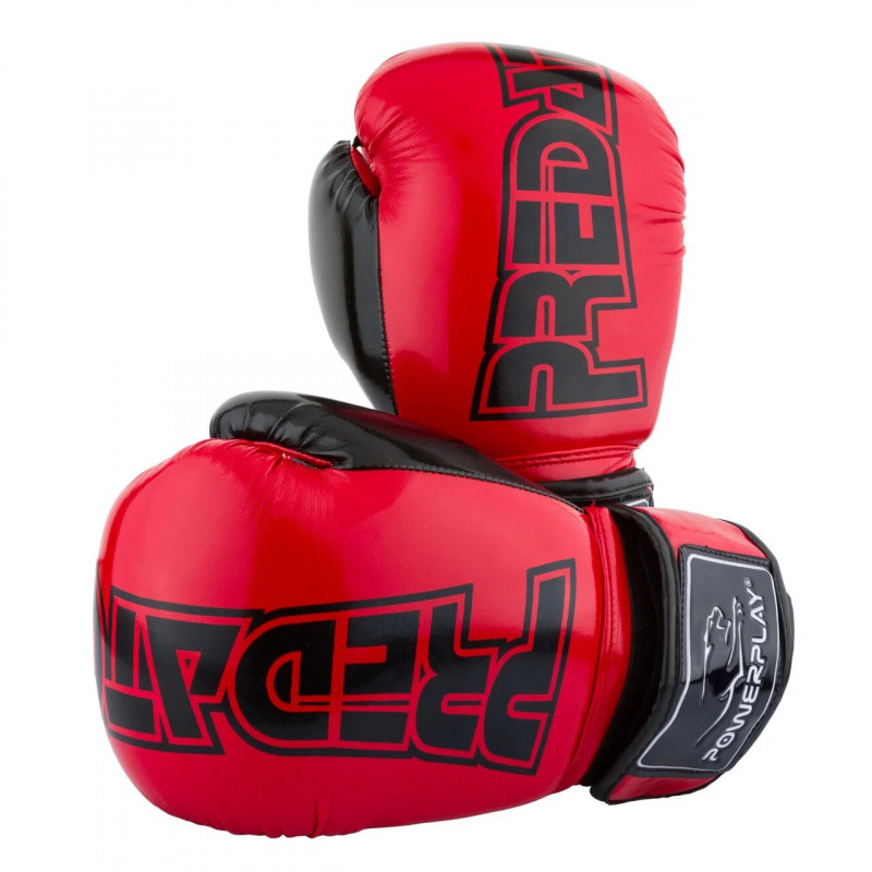 Боксёрсские перчатки PowerPlay Red 3017 красные (01796) фото 1