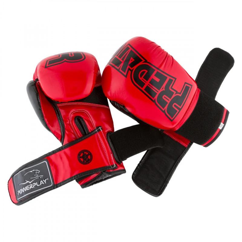 Боксёрсские перчатки PowerPlay Red 3017 красные (01796) фото 4
