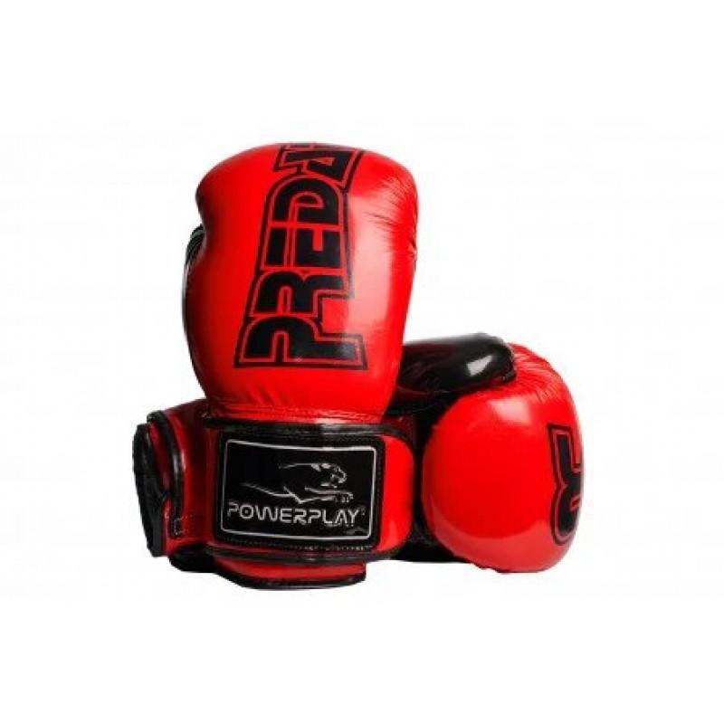 Боксёрсские перчатки PowerPlay Red 3017 красные (01796) фото 3