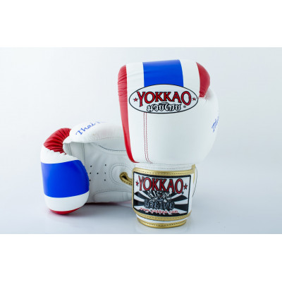 Перчатки YOKKAO Velcro Thai Flag II real leather (01195) фото 2