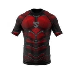 Рашгард SMMASH RASHGUARD SHORT RED ARMOUR ММА