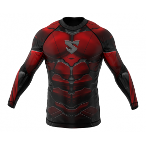 Рашгард SMMASH RASHGUARD LONG RED ARMOUR ММА