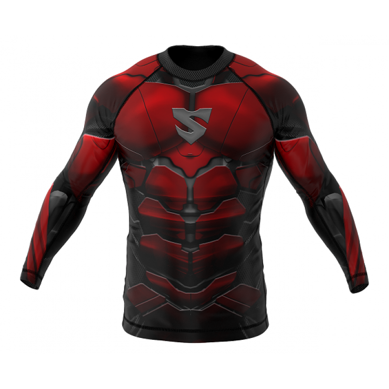 Рашгард SMMASH RASHGUARD LONG RED ARMOUR ММА (01413) фото 1