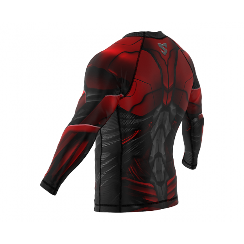 Рашгард SMMASH RASHGUARD LONG RED ARMOUR ММА (01413) фото 4