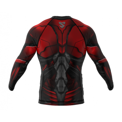Рашгард SMMASH RASHGUARD LONG RED ARMOUR ММА (01413) фото 2