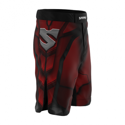 Шорты SMMASH MMA SHORTS RED ARMOUR ММА (01421) фото 3
