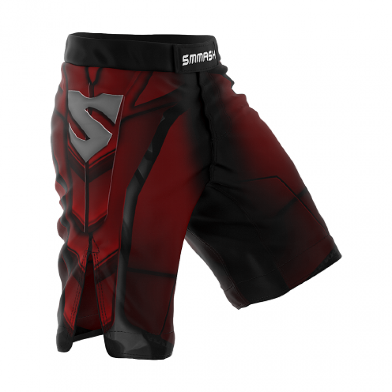 Шорты SMMASH MMA SHORTS RED ARMOUR ММА (01421) фото 1