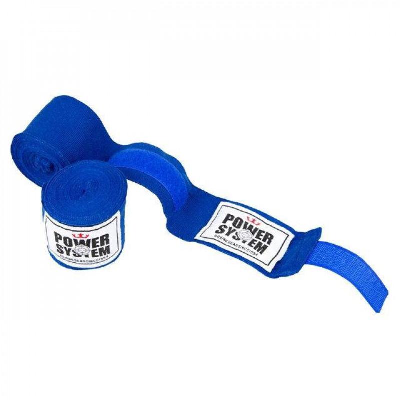 Бинты для бокса Power System Blue (01750) фото 1