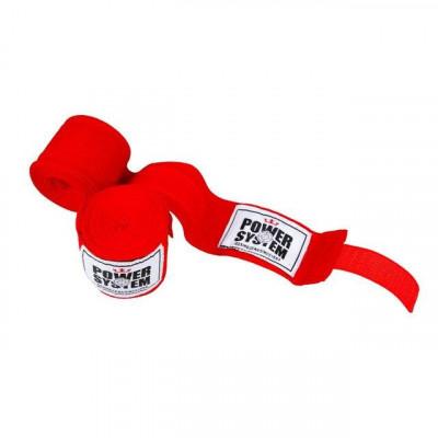 Бинты для бокса Power System Red (01597) фото 1