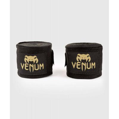 Бинти Venum Kontact Boxing Handwraps Black/Gold (02083) фото 1