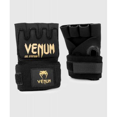 Бинты Venum Kontact Gel Glove Wraps Black/Gold (02059) фото 1