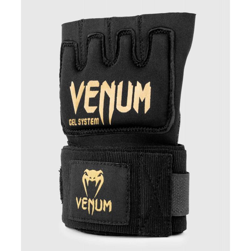 Бинты Venum Kontact Gel Glove Wraps Black/Gold (02059) фото 3