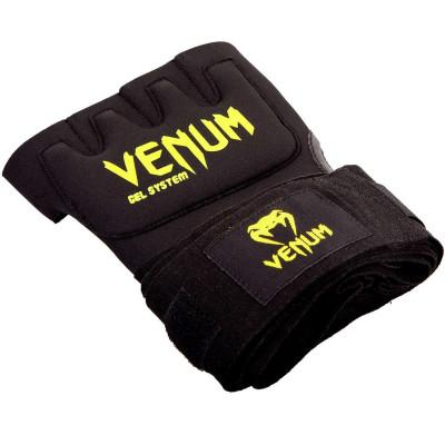 Быстрые гелевые бинты Venum Kontact Gel Glove Wraps Черные/Жёлтый (01849) фото 4