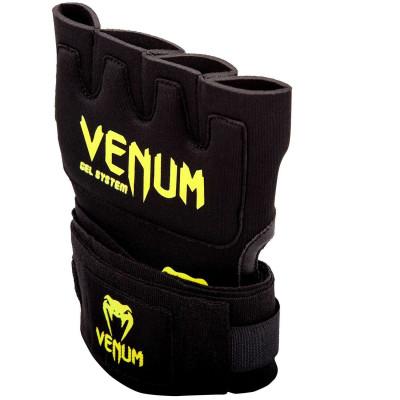 Быстрые гелевые бинты Venum Kontact Gel Glove Wraps Черные/Жёлтый (01849) фото 3