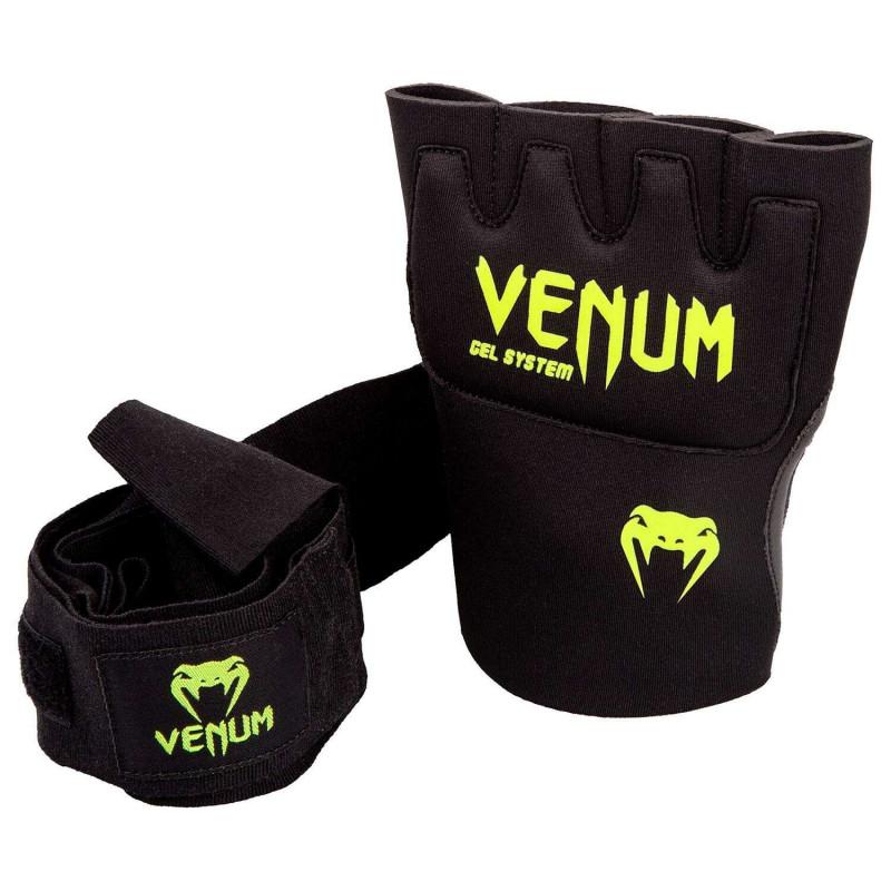 Быстрые гелевые бинты Venum Kontact Gel Glove Wraps Черные/Жёлтый (01849) фото 2